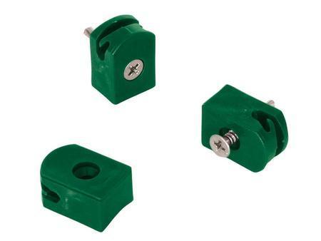 Držák napínacího drátu, tex, barva zelená - balení 10 ks - 1