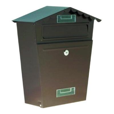 Poštovní schránka 29x36x10,5 hnědá