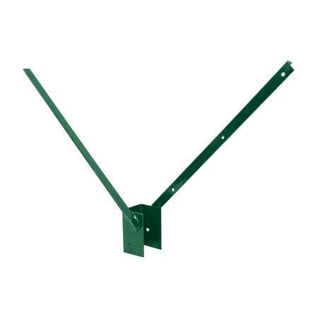 Bavolet 2-stranný na sloupek 60x40 mm-Zn+PVC