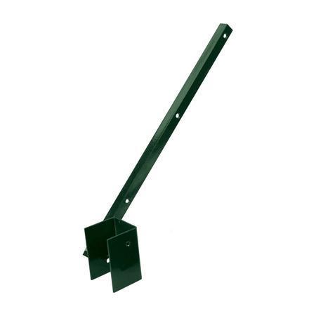 Bavolet 1-stranný na sloupek 60x60 mm-Zn+PVC, vnitřní