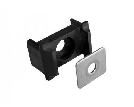 Úchyt panelu PVC na sloupek 60x40mm s vložkou - černý