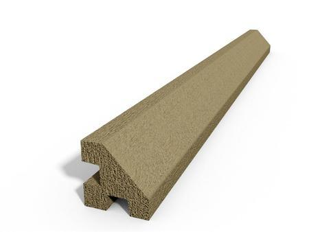 Betonový sloupek hladký rohový pískovec 2500 mm, Nadzemní výška 2500 mm - 1