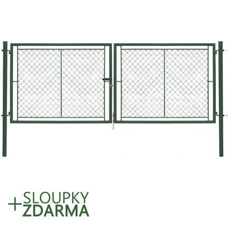 Brána Ideal II 4037 mm, čtyřhranné pletivo, FAB, zelená, výška 1550 mm, výška 1550 mm