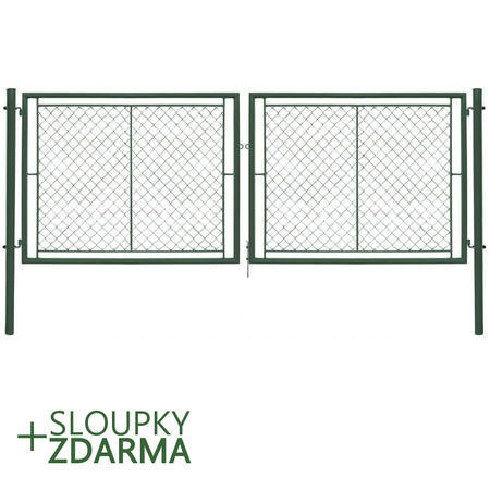 Brána Ideal II 3021 mm, čtyřhranné pletivo, oko, zelená, výška 950 mm, výška 950 mm
