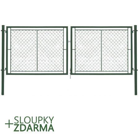 Brána Ideal II 4037 mm, čtyřhranné pletivo, oko, zelená, výška 1550 mm, výška 1550 mm