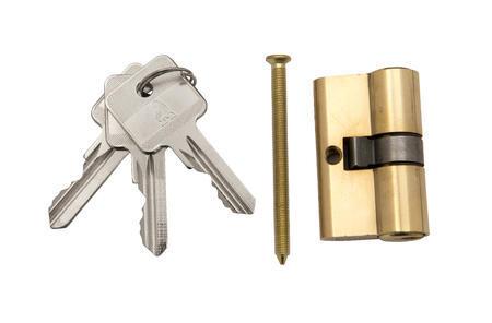 Sada příslušenství (doraz branky antracit, klika, zámek branky, cylindriská vložka, 3 klíče) - 1