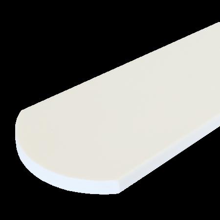 Everwood bílá oblouk 100x15 mm na míru, Bílá