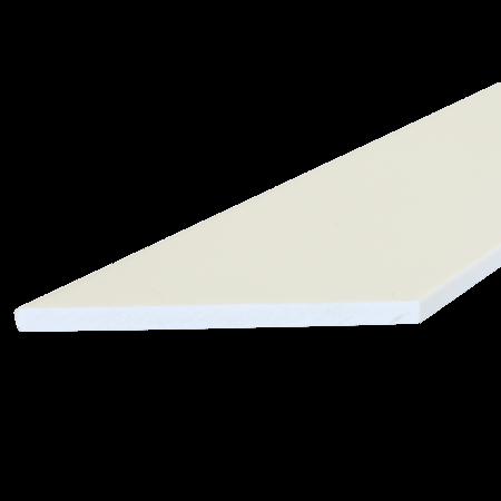 Everwood bílá zkosená 100x10 mm na míru, Bílá