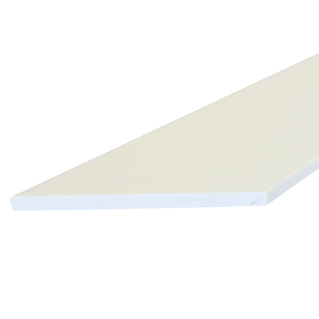 Everwood bílá zkosená 70x10 mm na míru, Bílá