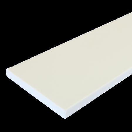 Everwood bílá rovná 100x10 mm na míru, Bílá