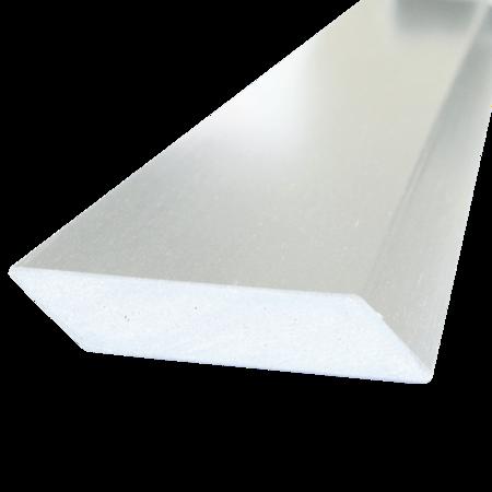 Everwood bílá hranol šikmý 75x15 mm na míru, Bílá