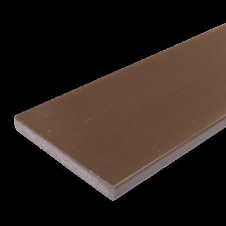 Everwood hnědá rovná 100x15 mm na míru, Hnědý