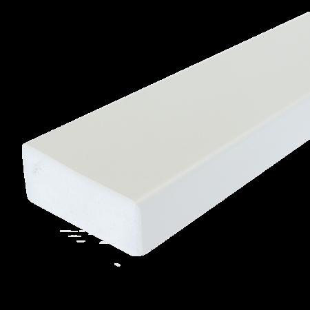 Everwood bílá zaoblená 70x20 mm na míru, Bílá