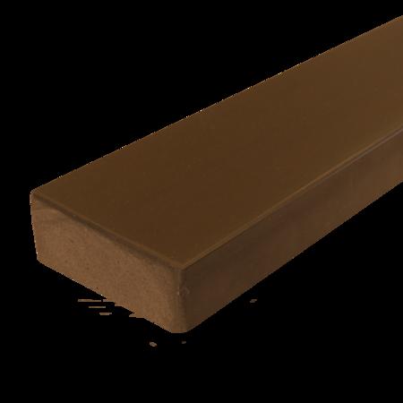 Everwood hnědá zaoblená 70x20 mm na míru, Hnědá