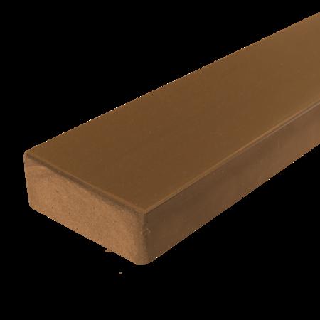 Everwood teak zaoblená 70x20 mm na míru, Teak