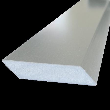 Everwood šedá světlá hranol šikmý 75x15 mm na míru, Šedá světlá