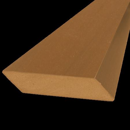 Everwood teak hranol šikmý 75x15 mm na míru, Teak