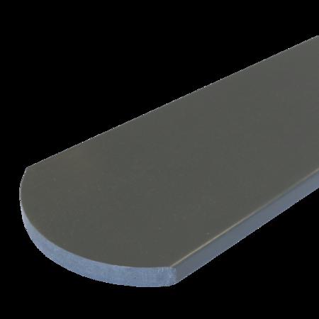 Everwood šedá tmavá oblouk 100x15 mm na míru, Šedá tmavá