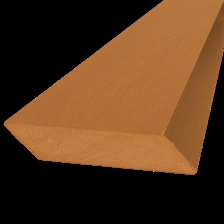 Everwood tmavá pinie hranol šikmý 75x15 mm na míru, Tmavá pinie