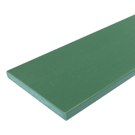 Everwood zelená rovná 100x10 mm na míru, Zelená