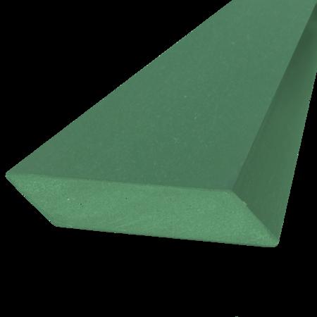 Everwood zelená hranol šikmý 75x15 mm na míru, Zelená