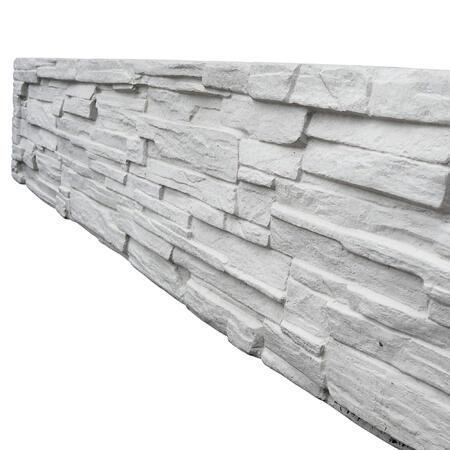 Betonový panel EXCLUSIVE štípaný kámen 2-str. přírodní 2000x400x40 mm - 1