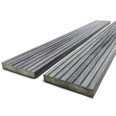 Dřevoplast WPC drážkovaná greywood rovná 70x11 mm - 1