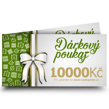 Dárkový poukaz celoroční 10000 Kč