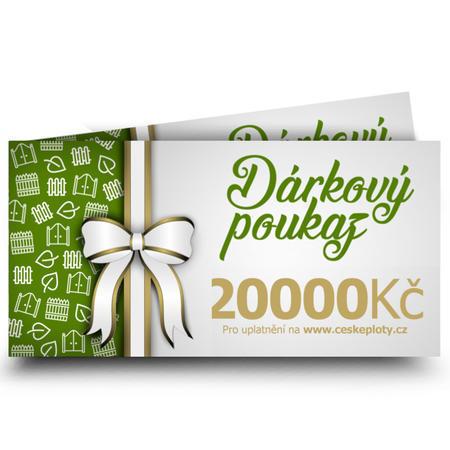 Dárkový poukaz celoroční 20000 Kč