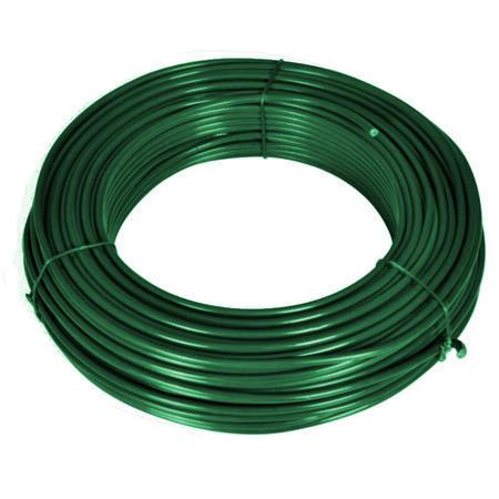 Napínací drát Zn+PVC 2,25/3,4, zelený, 52m