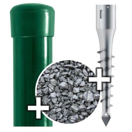 Sada - sloupek Zn+PVC s vrutem, pro výšku pletiva 1800 mm - 1