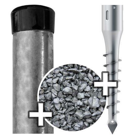 Sada - sloupek Zn s vrutem, pro výšku pletiva 1500 mm
