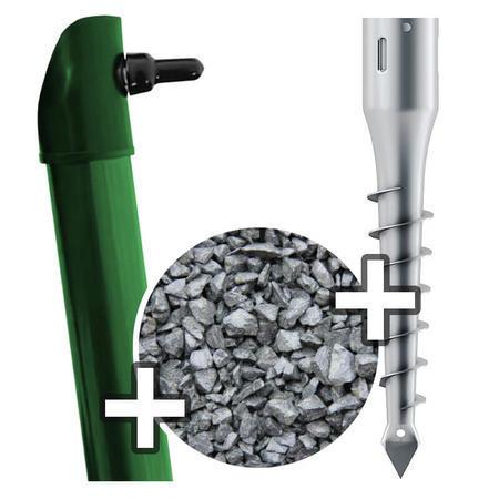 Sada - vzpěra DAMIPLAST®Zn+PVC s vrutem, pro výšku pletiva 1500 mm - 1