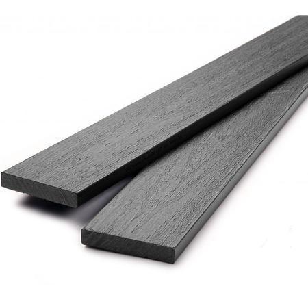 Dřevoplus profi šedá půlkulatá 80x15 mm na míru - 1