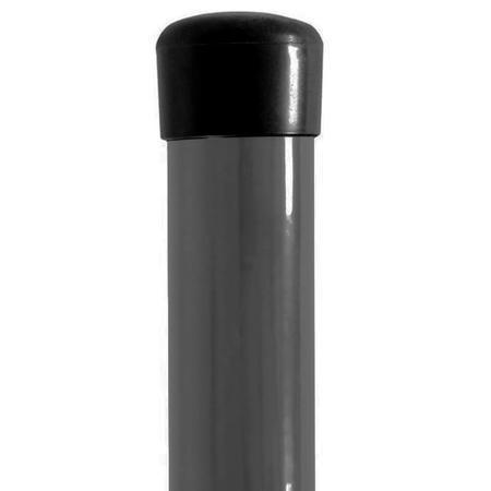 Sloupek poplastovaný DAMIPLAST®48/1,5 šedý vč.čepičky, 2400 mm