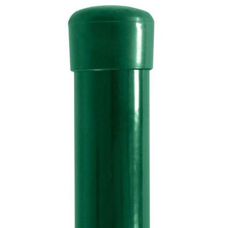 Sloupek poplastovaný DAMIPLAST®48/2 zelený vč.čepičky, 2400 mm - 1