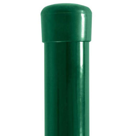 Sloupek DAMIPLAST® 48/1,5/3000 zelený vč.čepičky, Sloupek DAMIPLAST®  48/1,5/3000 Zn+poplast zelený vč.čepičky - 1