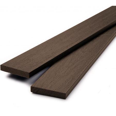 Dřevoplus profi walnut rovná 80x15 mm na míru, Délka na míru v mm - 1