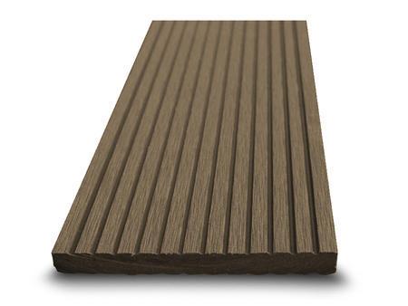 Dřevoplast WPC drážkovaná palisandr rovná 100x10 mm - 1