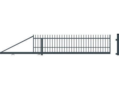 Brána posuvná levá bez pohonu BARCELONA, Levá bez pohonu