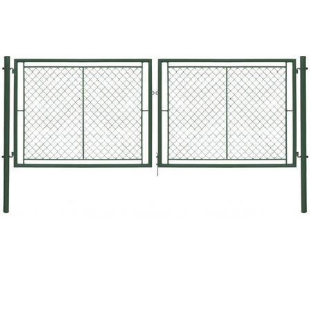 Brána Ideal II 4037 mm, čtyřhranné pletivo, oko, zelená