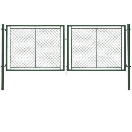 Brána Ideal II 3037 mm, čtyřhranné pletivo, oko, zelená