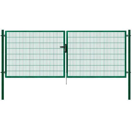 Brána Pilofor Super 4090 mm, svařovaný panel, FAB, zelená, výška 1980 mm, výška 1980 mm - 1