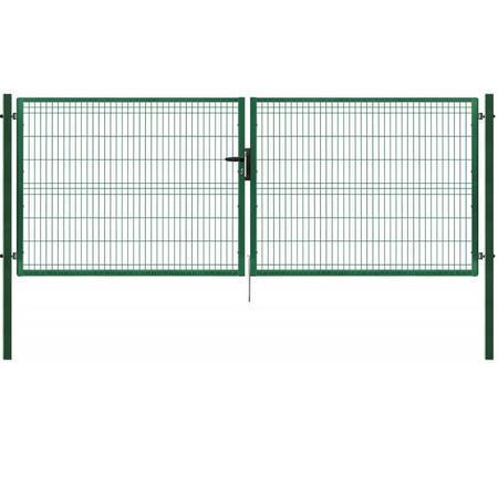 Brána Pilofor 4118 mm, svařovaný panel s prolisem, FAB, zelená - 1