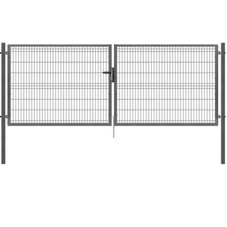 Brána Pilofor 4118 mm, svařovaný panel s prolisem, FAB, zinek, výška 1745 mm, výška 1745 mm - 1