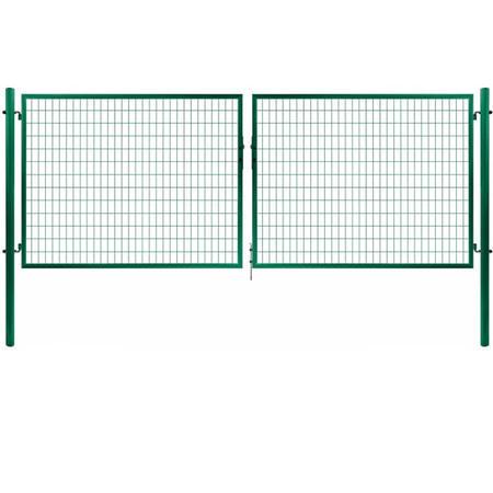Brána Solid 3605 mm, svařovaná síť, oko, zelená, ⌀ 76 mm - 1