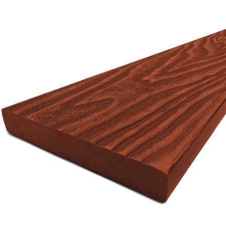 Dřevoplast WPC Premium červenohnědá rovná 85x13x1000 mm, 1000 mm - 1