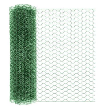 Chovatelské šestihranné pletivo HOBBY Zn+PVC 500, 13x13mm, drát 0,8 mm - 1