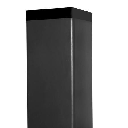 Sloupek 60/60/1,5 Zn+ PVC antracit vč. krytky, 100cm - 1