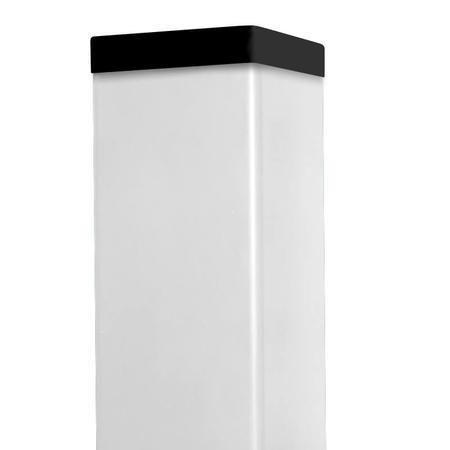 Sloupek 60/60/1,5 Zn+ PVC bílý vč. krytky, 160cm - 1